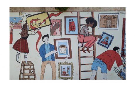 בילוי אמן – אמנות על הקירות