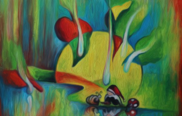 שיחה בגלריה- ציורים חסידיים