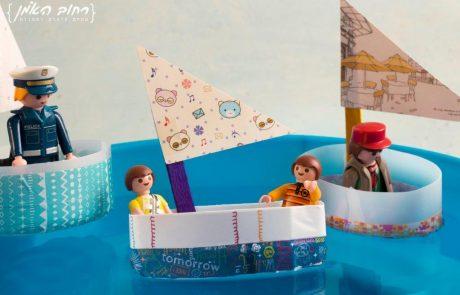 סירת מפרש מבקבוק שמפו